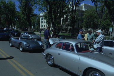 More Porsches on display